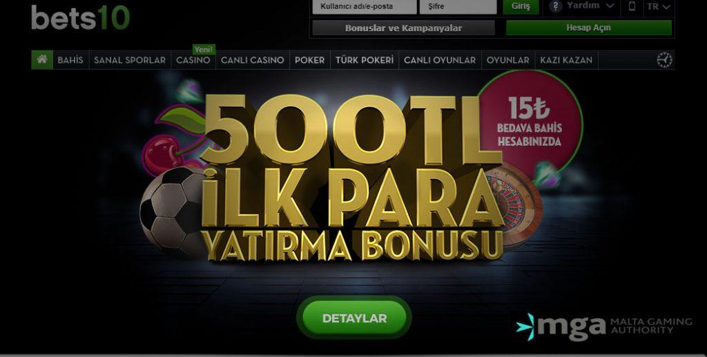 Bets10 İlk Yatırım Bonusu